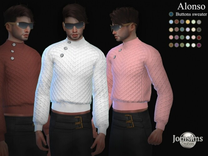 Alonso buttons sweater by  jomsims