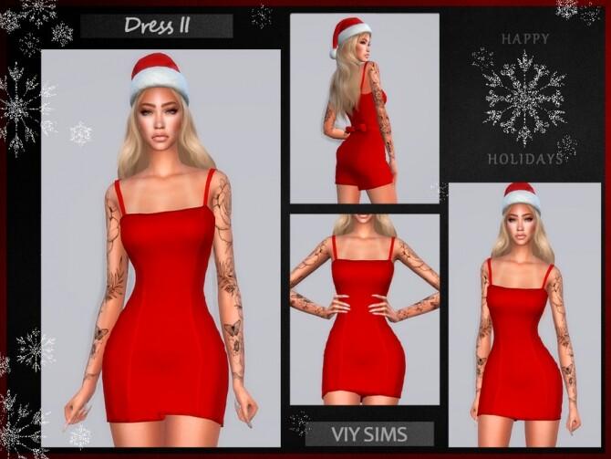 Sims 4 Dress II Christmas VI by Viy Sims at TSR