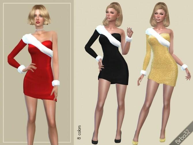 Sims 4 Christmas spirit dress by Birba32 at TSR
