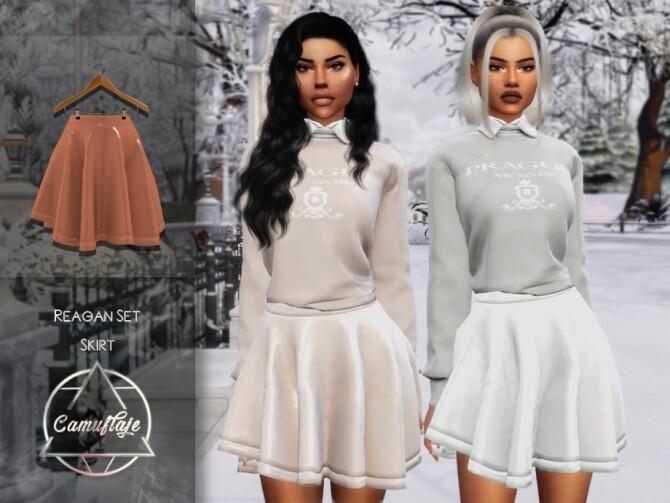 Sims 4 Reagan Skirt by Camuflaje at TSR