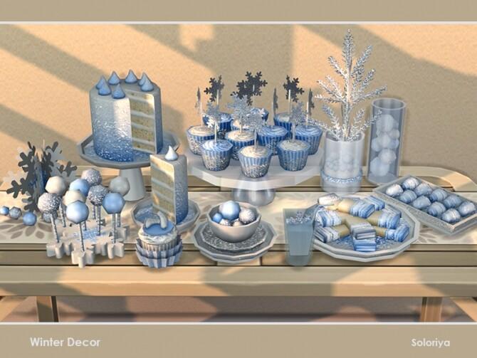 Sims 4 Winter Decor by soloriya at TSR