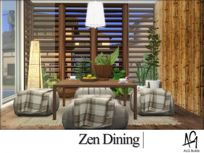 Zen Dining Room by ALGbuilds