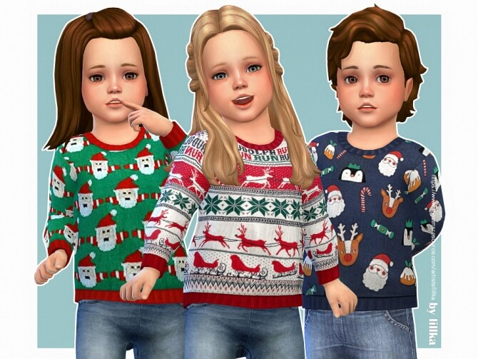 Sims 4 Cozy Winter Sweater 09 by lillka at TSR