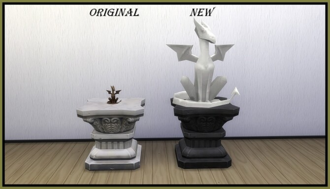 Sims 4 Dragon Sculpture by hippy70 at Mod The Sims