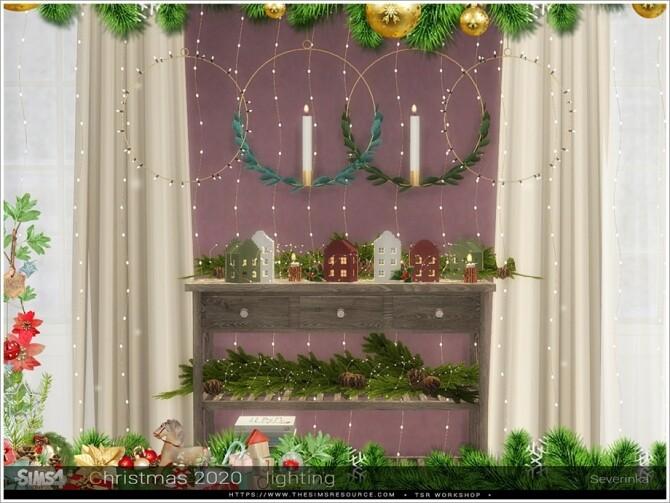 Sims 4 Christmas 2020 lighting set by Severinka at TSR