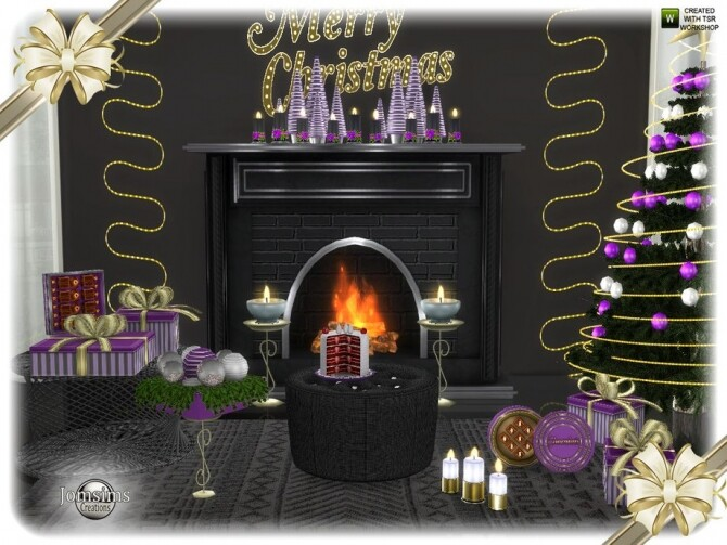 Sims 4 Segor Christmas living room part 2 by jomsims at TSR