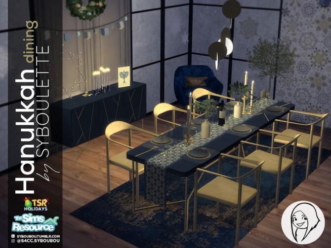Hanukkah Dining Set Holiday Wonderland by Syboubou