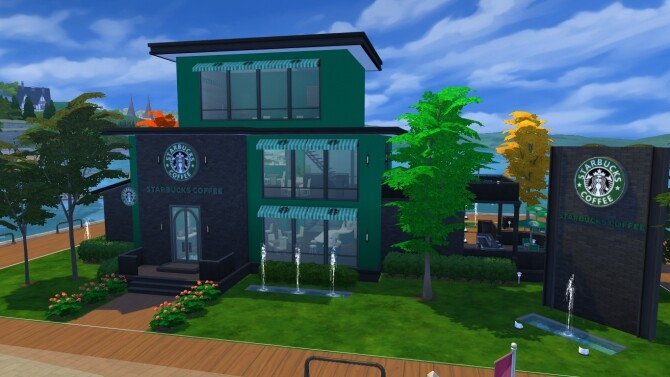 Sims 4 Starbucks Cafe by iSandor at Mod The Sims