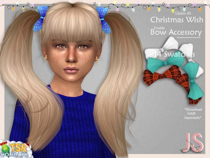 Christmas Wish Hair Bow Acc 2 Holiday Wonderland by JavaSims