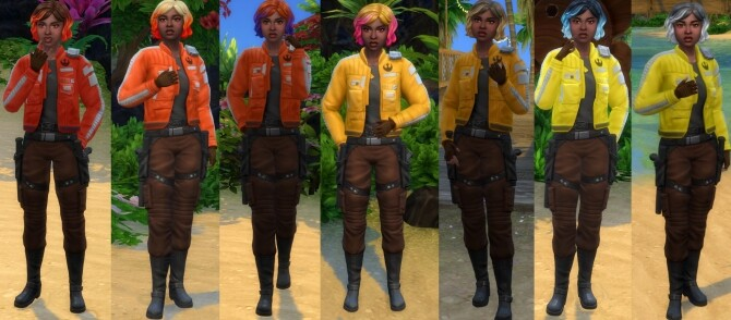 Sims 4 Rebel Scum Attire (Journey to Batuu Recolours) by soaplagoon at Mod The Sims