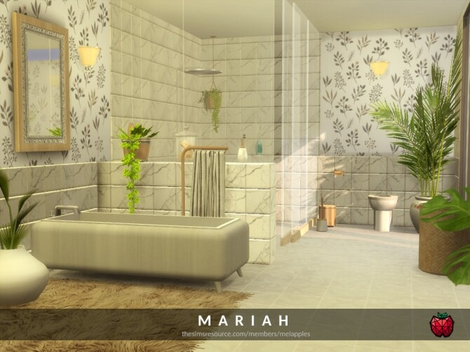 Sims 4 Mariah bathroom by melapples at TSR