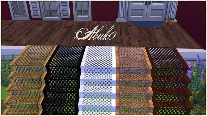 Sims 4 Christmas set: stairs, fence, loveseat, snowman, gingerman, candy at Abuk0 Sims4