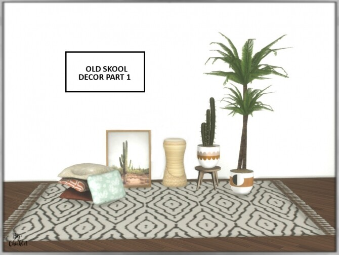 Sims 4 Old Skool Sitting Room Decor Part 1 by Chicklet at TSR