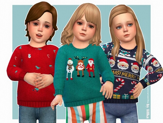Sims 4 Cozy Winter Sweater 08 by lillka at TSR