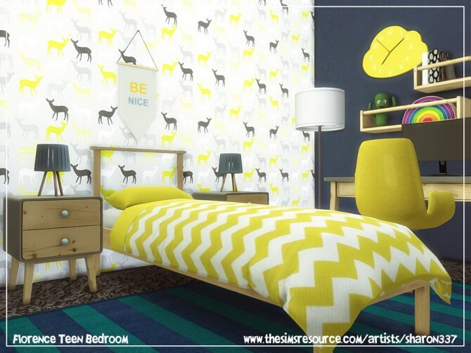 Sims 4 Florence Teen Bedroom by sharon337 at TSR