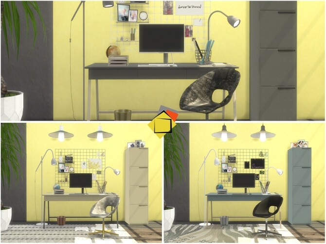 Sims 4 Holmes Study Room by Onyxium at TSR