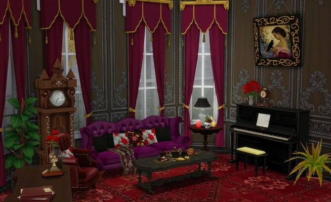 Sims 4 Vampire Family Home at Vicky SweetBunny