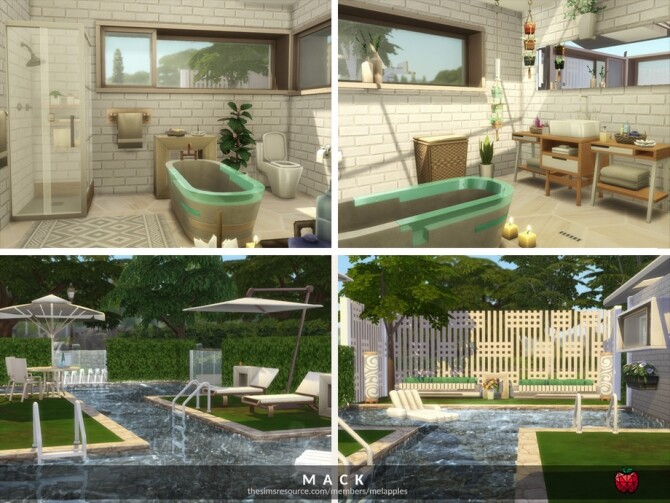 Sims 4 Mack small home by melapples at TSR