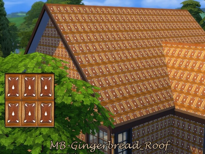 Sims 4 MB Gingerbread Roof by matomibotaki at TSR