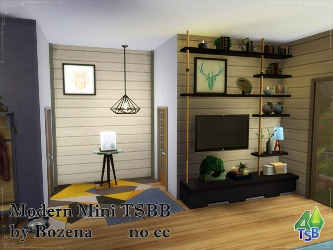 Sims 4 Modern Mini TSBB by bozena at TSR