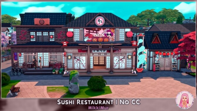 Sims 4 Sushi Restaurant at MikkiMur