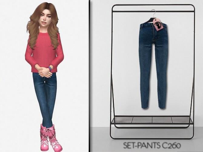 Sims 4 Set Pants C260 by turksimmer at TSR