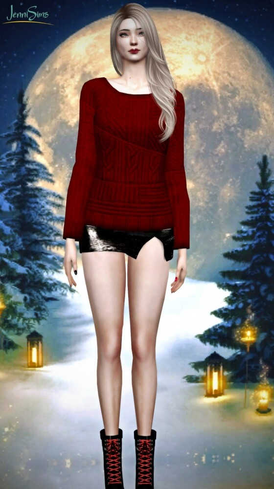 Sims 4 BASE GAME COMPATIBLE sweater at Jenni Sims
