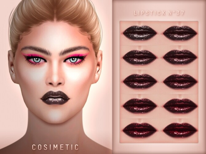 Sims 4 Lipstick N37 by cosimetic at TSR