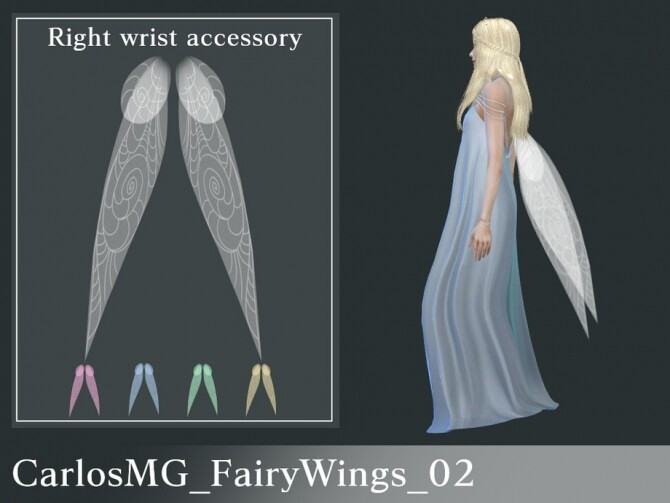 Sims 4 Fairy Wings 02 by CarlosMG at TSR