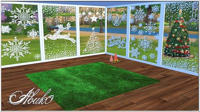 Sims 4 Christmas Windows at Abuk0 Sims4