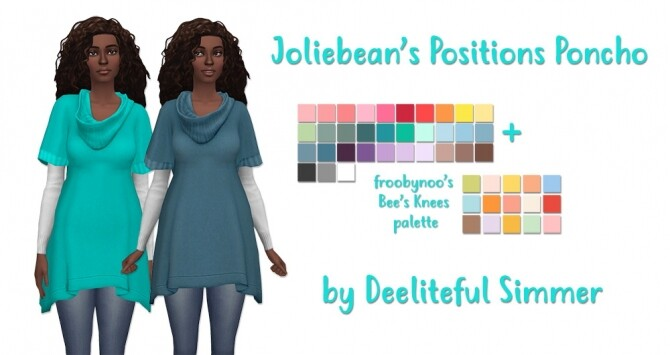 Sims 4 Joilibeans Positions poncho recolors at Deeliteful Simmer