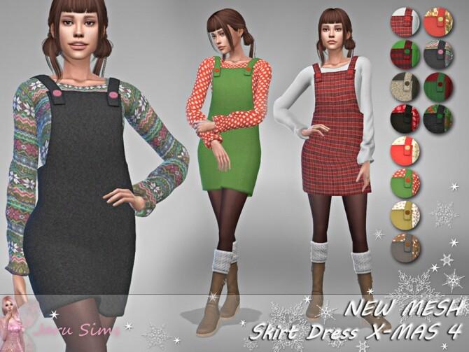 Sims 4 Skirt Dress X MAS 4 by Jaru Sims at TSR