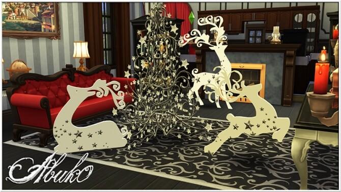Sims 4 Christmas Deers & Trees at Abuk0 Sims4