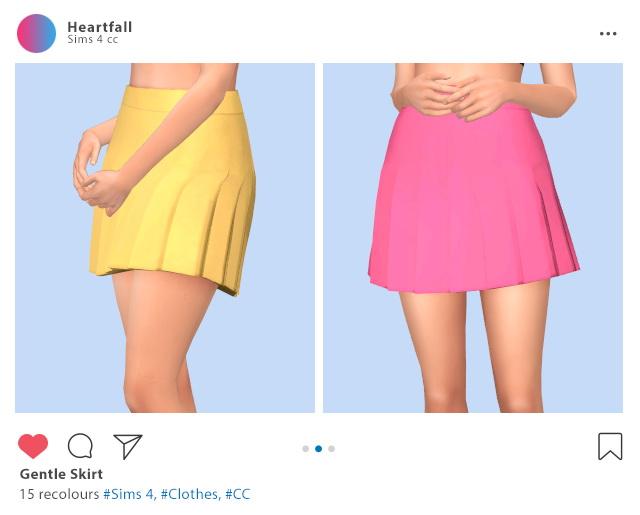 Sims 4 Gentle skirt at Heartfall