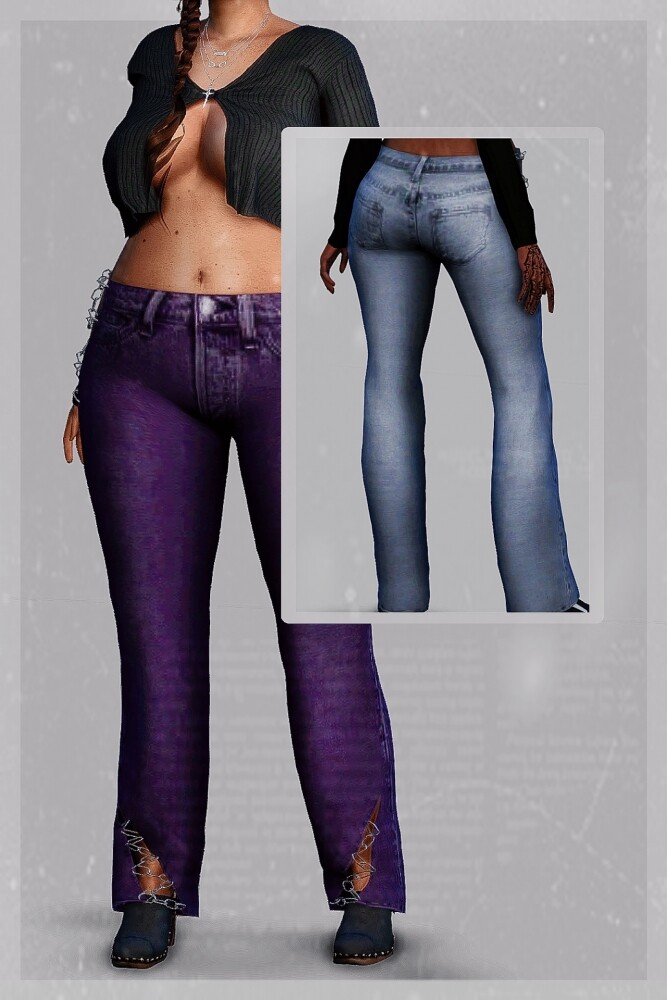 Doomsday Pants at EvellSims image 982 667x1000 Sims 4 Updates