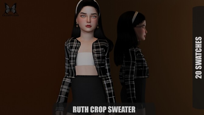 Sims 4 Ruth Crop Sweater at Clarity Sims