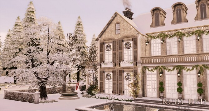 Sims 4 Snowy Christmas Home at Ruby Red