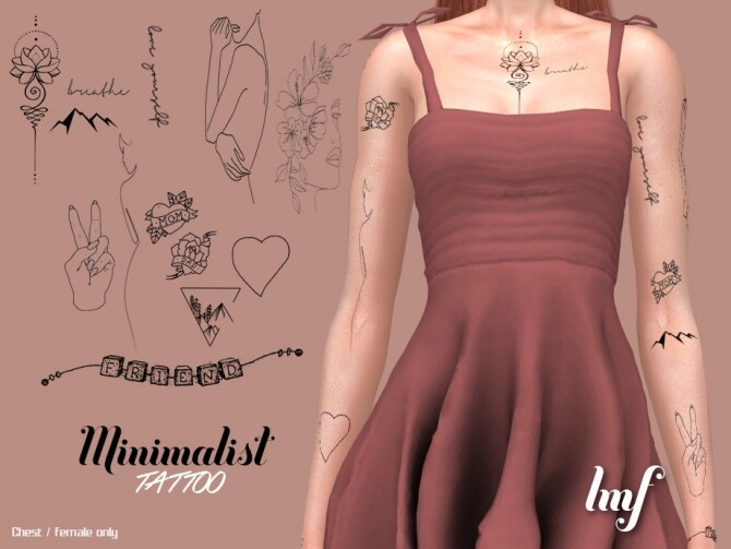 Sims 4 IMF Tattoo Minimalist by IzzieMcFire at TSR