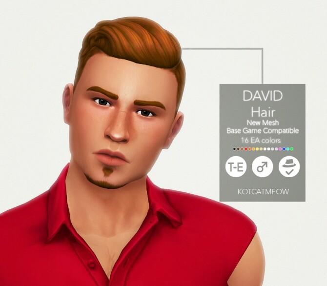 Sims 4 David Hair at KotCatMeow