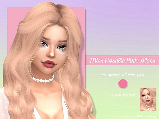 Sims 4 Miss Rosalie Pink Gloss by LadySimmer94 at TSR