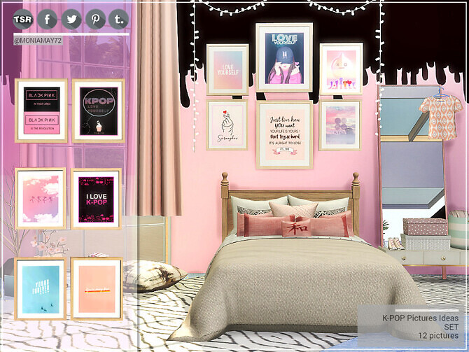 Sims 4 K POP Picture Ideas set by Moniamay72 at TSR