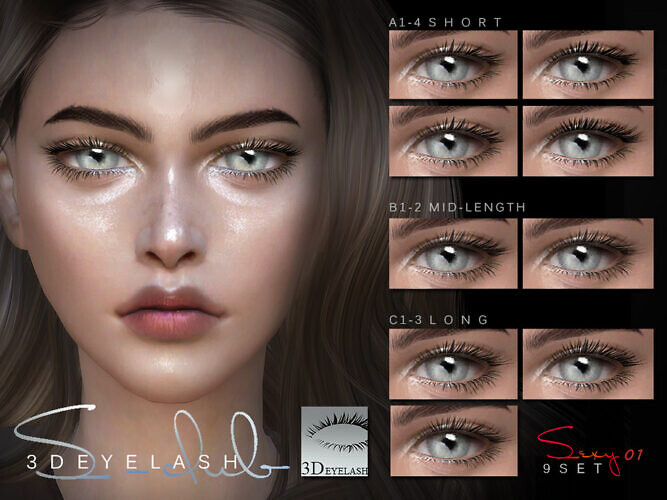 3d Eyelashes F V1 Bassis By S-club