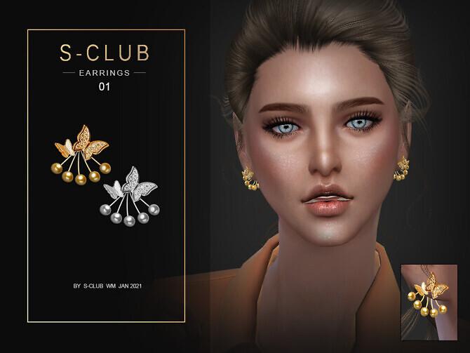 Sims 4 EARRINGS 202101 by S Club WM at TSR