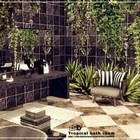 Tropical Bath Room By Danuta720