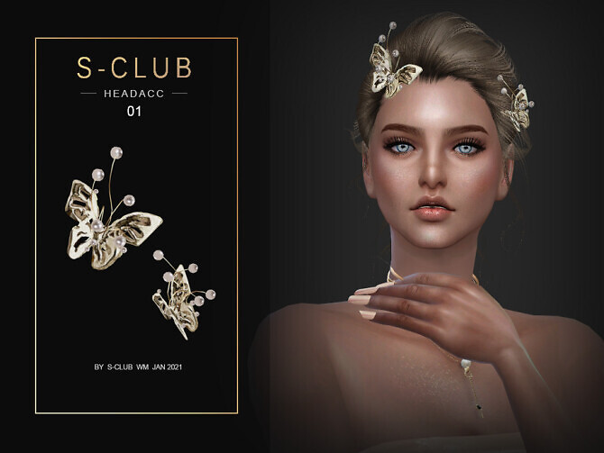 Sims 4 Butterfly pearl head acc 202101 by S Club WM at TSR