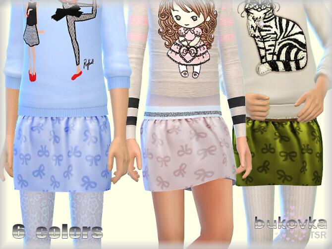 Sims 4 Skirt for Girls by bukovka at TSR