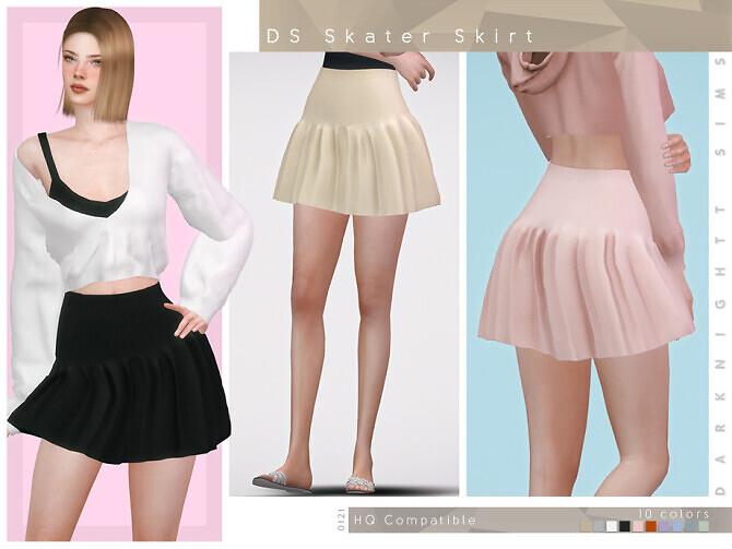 Sims 4 DS Skater Skirt by DarkNighTt at TSR