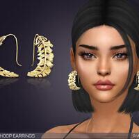 Feather Hoop Earrings By Feyona