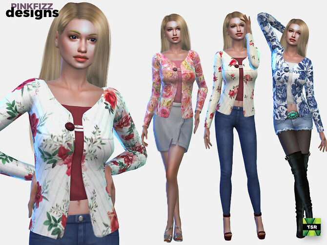 Sims 4 Flower Cardy by Pinkfizzzzz at TSR