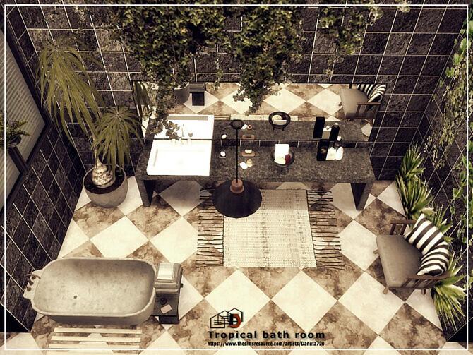 Sims 4 Tropical bath room by Danuta720 at TSR
